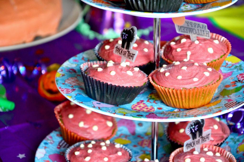 Fliegenpilz Muffins Faschingsparty