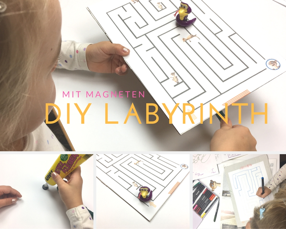 basteln mit kindern wir basteln ein labyrinth diy spiel mit magneten limango magazin. Black Bedroom Furniture Sets. Home Design Ideas