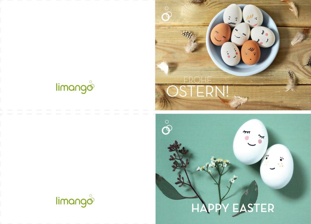 Ostergrüße Per Post Versenden (4 Osterkarten Zum