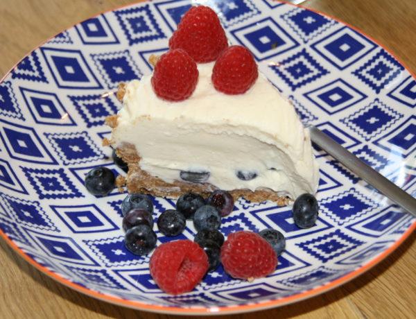 Kuchen ohne Backen Blaubeerkuchen