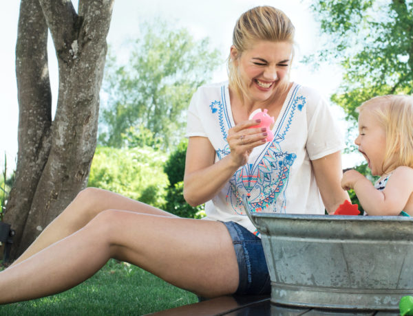 Outdoor-Aktivitäten mit Kind
